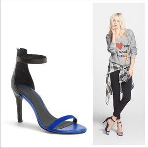 Joie Abbott Colorblock Blue Black Zip Sandal 38